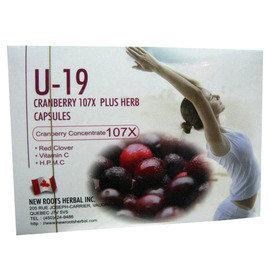 U-19 CRANBERRY蔓越莓膠囊60粒盒*7盒