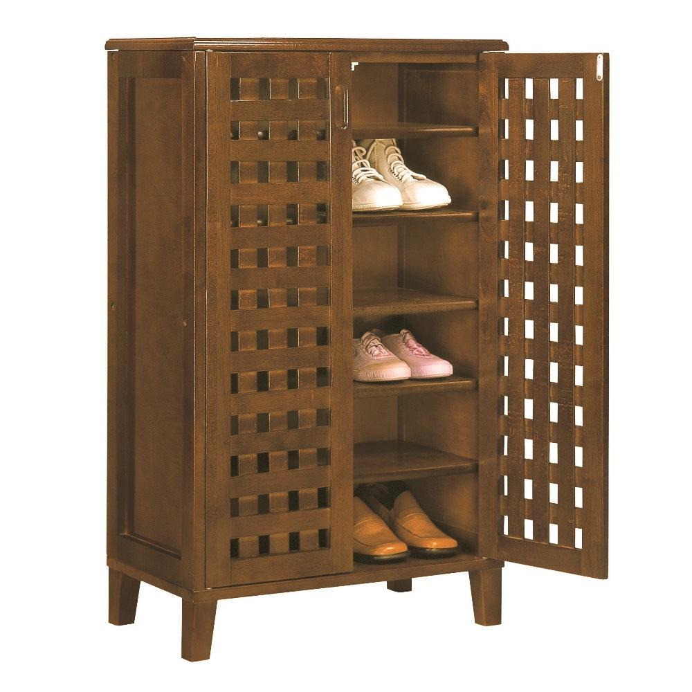 品味玩家- 實木歐亞克2尺鞋櫃/收納/附門鞋櫃