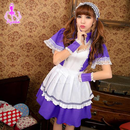 蘿莉女僕六件式角色扮演服-邱比特情趣用品