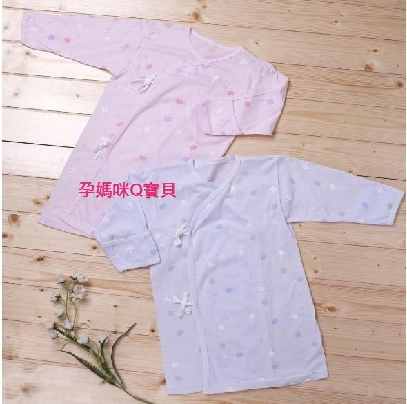 台灣製聖哥NEW STAR新生兒長袍春夏睡袍-100純棉綁帶袖口反折~3440