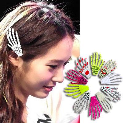 日本原宿龐克骷髏頭髮夾AO2281韓國少女時代愛用雙兒網