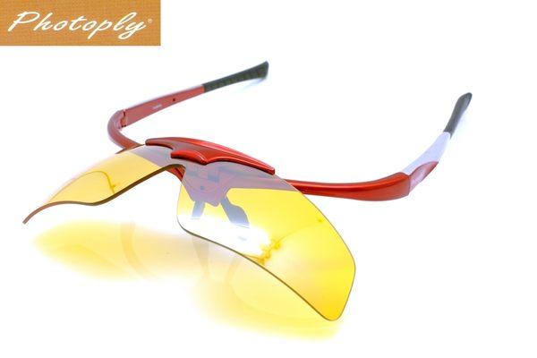 我愛買台灣PHOTOPLY紅色鏡片可換MLB大聯盟眼鏡太陽眼鏡即防藍光眼鏡適程式設計師辦公室OL螢幕