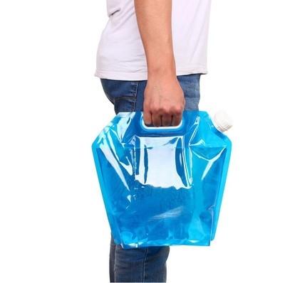 戶外水袋便攜大容量手提水袋戶外登山摺疊儲水袋野營5L預購CH789