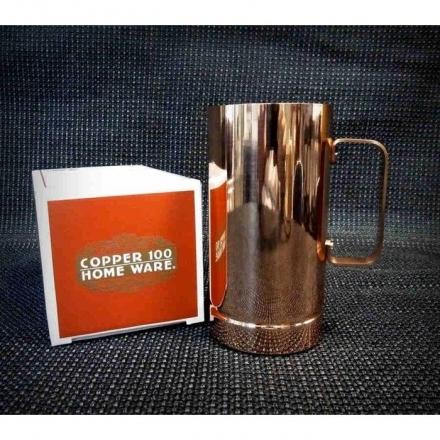 福介生活館~日本銅杯清涼暢飲新光堂長型銅製馬克杯500cc咖啡杯銅茶杯水杯下午茶