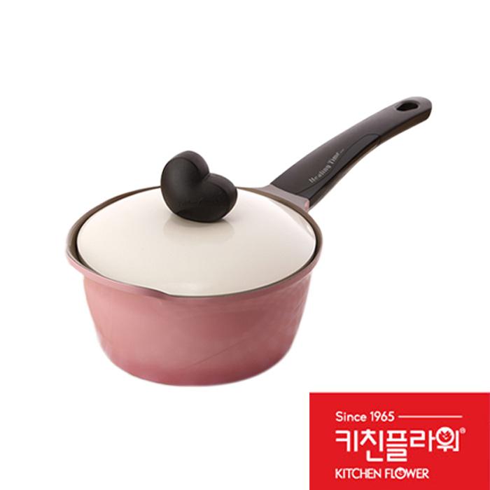 韓國Kitchen Flower 18cm愛心玫瑰單柄湯鍋愛心玫瑰鍋單柄湯鍋
