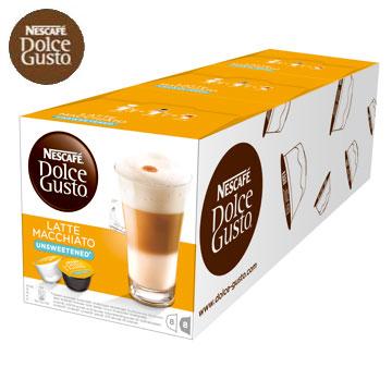 雀巢無糖拿鐵咖啡膠囊Latte Macchiato Unsweetened 3盒條入