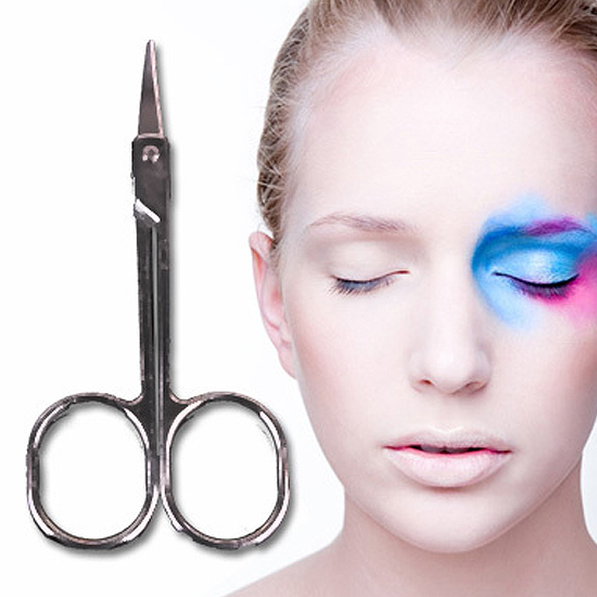 ♚MY COLOR♚不鏽鋼美容小剪刀 彎頭 眉毛 鼻毛 修剪 假睫毛 化妝 修容 雙眼皮膠 工具【Q269】