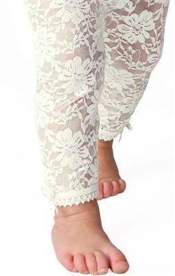 美國Baby Emporio造型棉襪蕾絲緊身褲嬰兒褲襪白色6-12M 12-18M