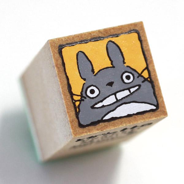 ❤Hamee 日本 吉卜力 宮崎駿 龍貓 TOTORO 豆豆龍 人物造型木製印章(臉好大~) 177-121404