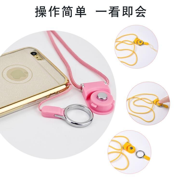 限量搶購蘋果iphone 6 HTC三星SONY ASUS手機掛繩項鍊吊繩掛脖子指環扣手機殼note5 s6 z5 i6s