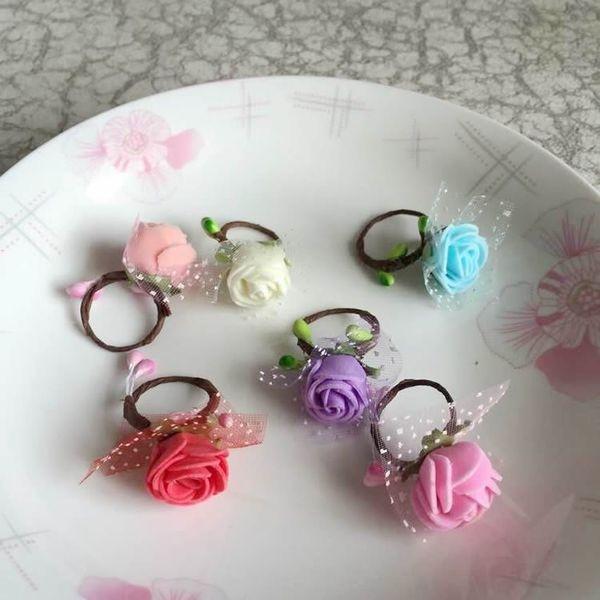 仙女指環 戒指 美麗的戒指花環 婚紗攝影森女海邊度假沙灘花朵─預購CH1685