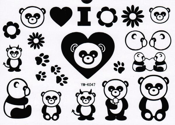 薇嘉雅       紋身貼紙 k-047