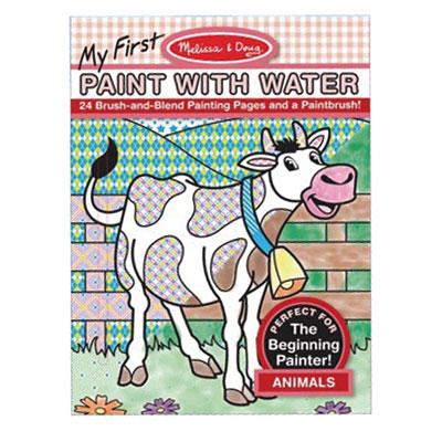 佳兒園婦幼館美國瑪莉莎Melissa Doug-兒童水彩繪圖本-附畫筆動物