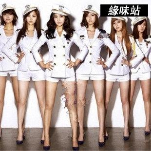 韓國少女時代同款舞台裝海軍女警海軍水手服DS演出服緣味站YW-3230