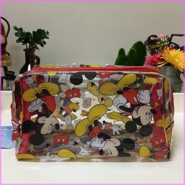 迪士尼米奇立體透明防水萬用袋(小)旅行專用夏日海灘專用收納包化妝包女衣閨蜜生日禮物