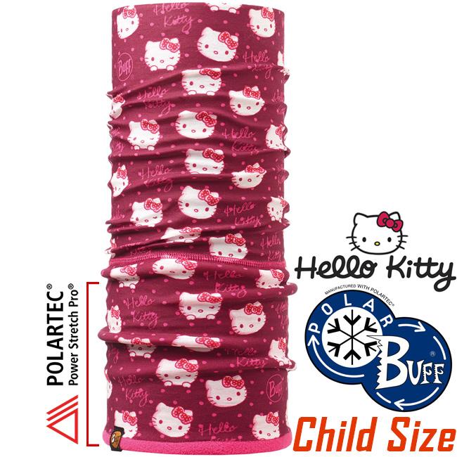 BUFF 111068 Hello Kitty授權Child Polar兒童單面保暖魔術頭巾Polartec機能布料
