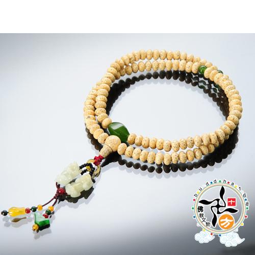 玉貔貅 星月菩提108念珠4*8mm 【十方佛教文物】