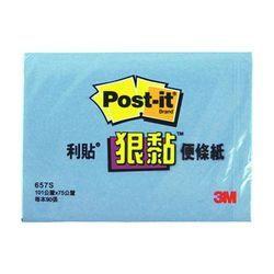 《☆享亮商城☆》657S-2 藍 狠黏橫條可再貼便條紙  3M