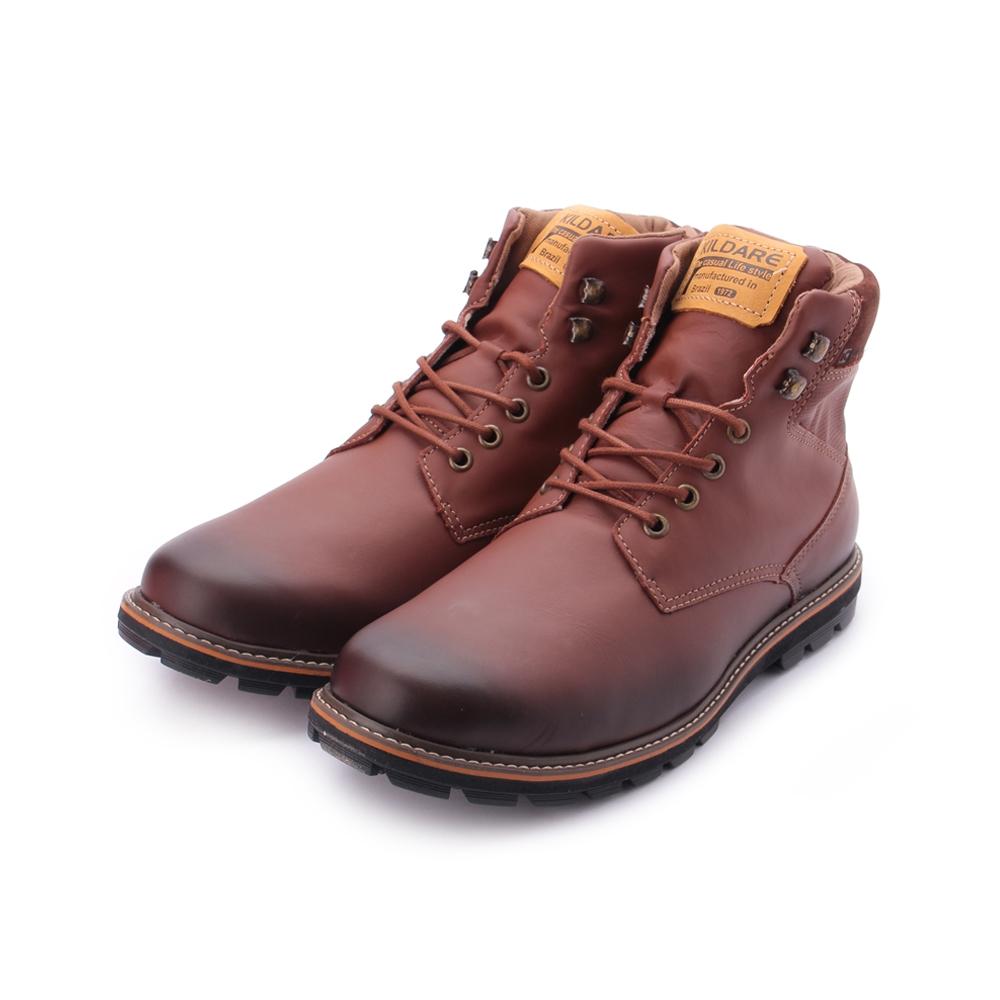 巴西KILDARE SHADY COFFEE 真皮燻黑中筒靴 咖 AL3811-CH 男鞋