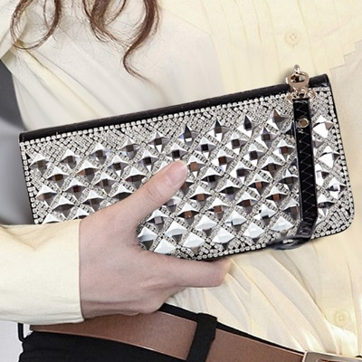 皮夾長夾-鑲鑽晚宴時尚大容量精美女零錢包73eb77時尚巴黎
