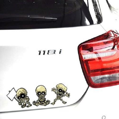 搞怪骷髏動作貼紙車身貼惡靈騎士安全帽貼刮痕機車貼反光貼個性貼紙貼膜沂軒精品A0299