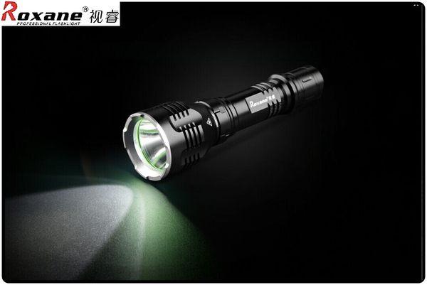 Roxane美國Cree XML-T6強光手電筒K68,IPx-6防水手電筒戰術手電筒防爆手電筒強光LED手電筒強光電筒