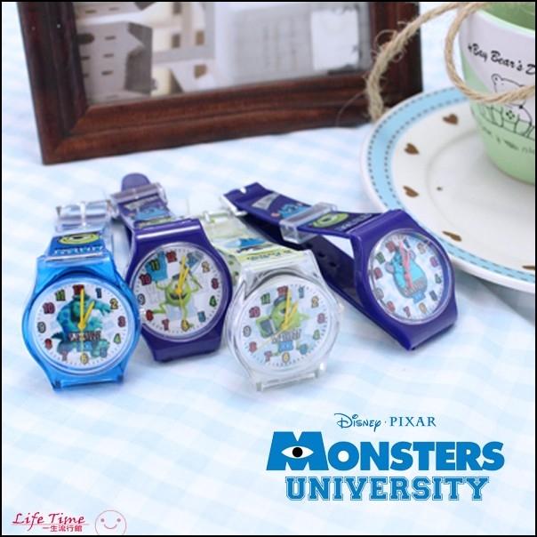 最後1個毛怪正版迪士尼怪獸大學塑膠錶帶兒童手錶石英錶H01027