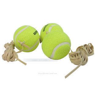 網球訓練球練習球帶橡皮筋網球帶繩網球免撿球