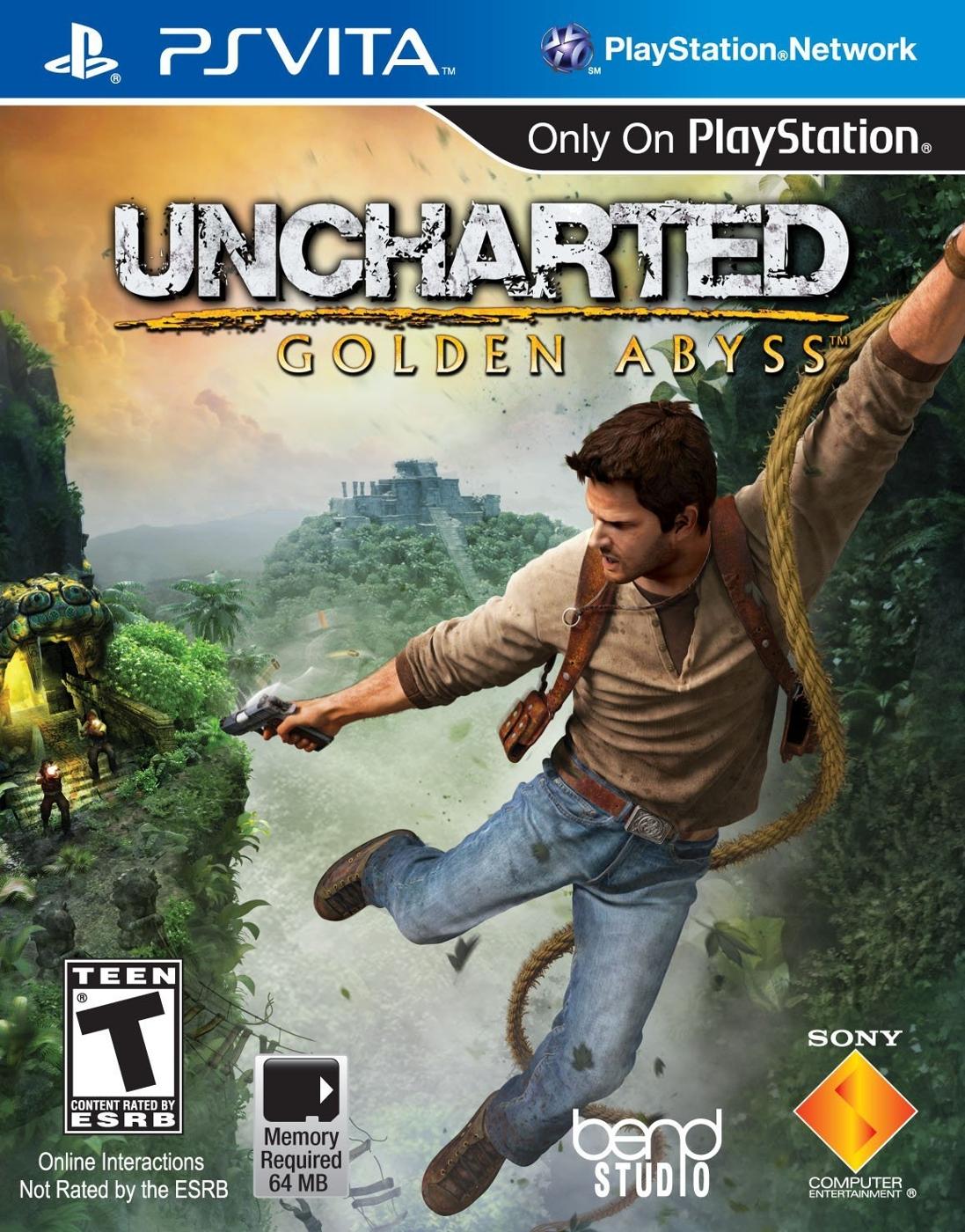 PSV VITA秘境探險:黃金深淵-英文美版-Uncharted:Golden Abyss