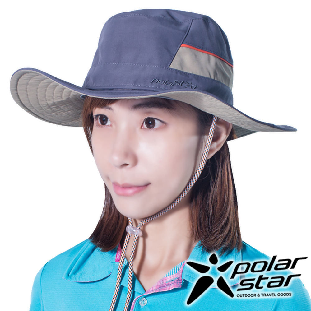 PolarStar圓盤帽牛仔帽暗灰P16516抗UV帽登山帽路跑慢跑帽遮陽帽防曬帽