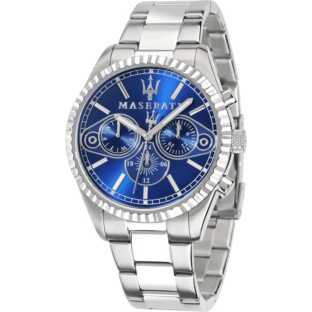 MASERATI WATCH-瑪莎拉蒂手錶-深海藍三眼男款-R8853100009-錶現精品公司-原廠正貨-鏡面保固一年