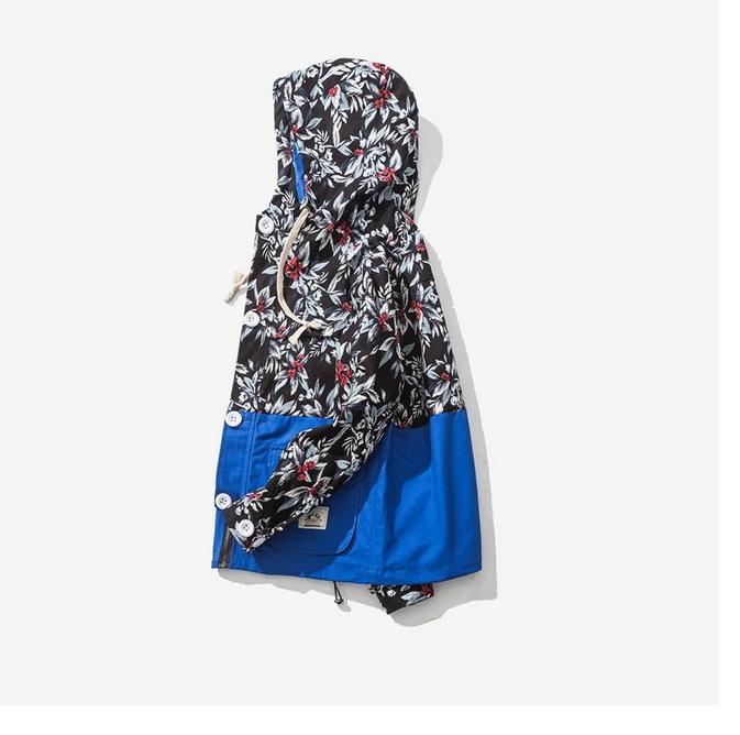 找到自己日系JP風衣外套登山外套口袋外套花外套伏傷花荊棘花CLOT