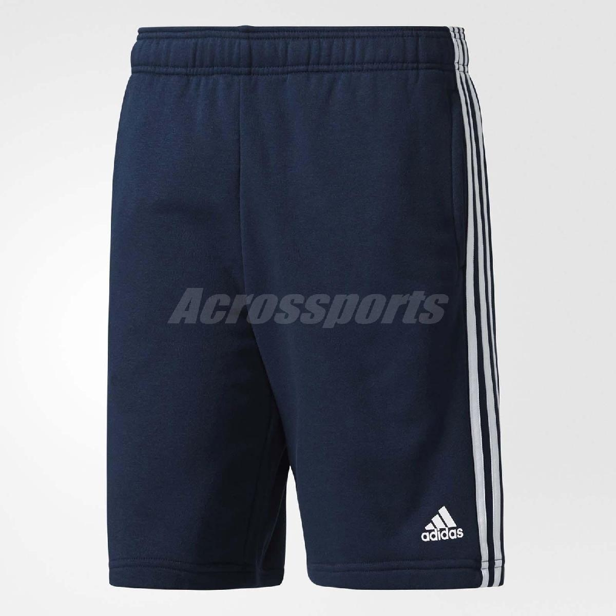adidas 短褲 ESS 3S SHORT FT 男款 三條線 運動 休閒 經典 穿搭 基本款 素面 藍 白 【PUMP306】 BP5467