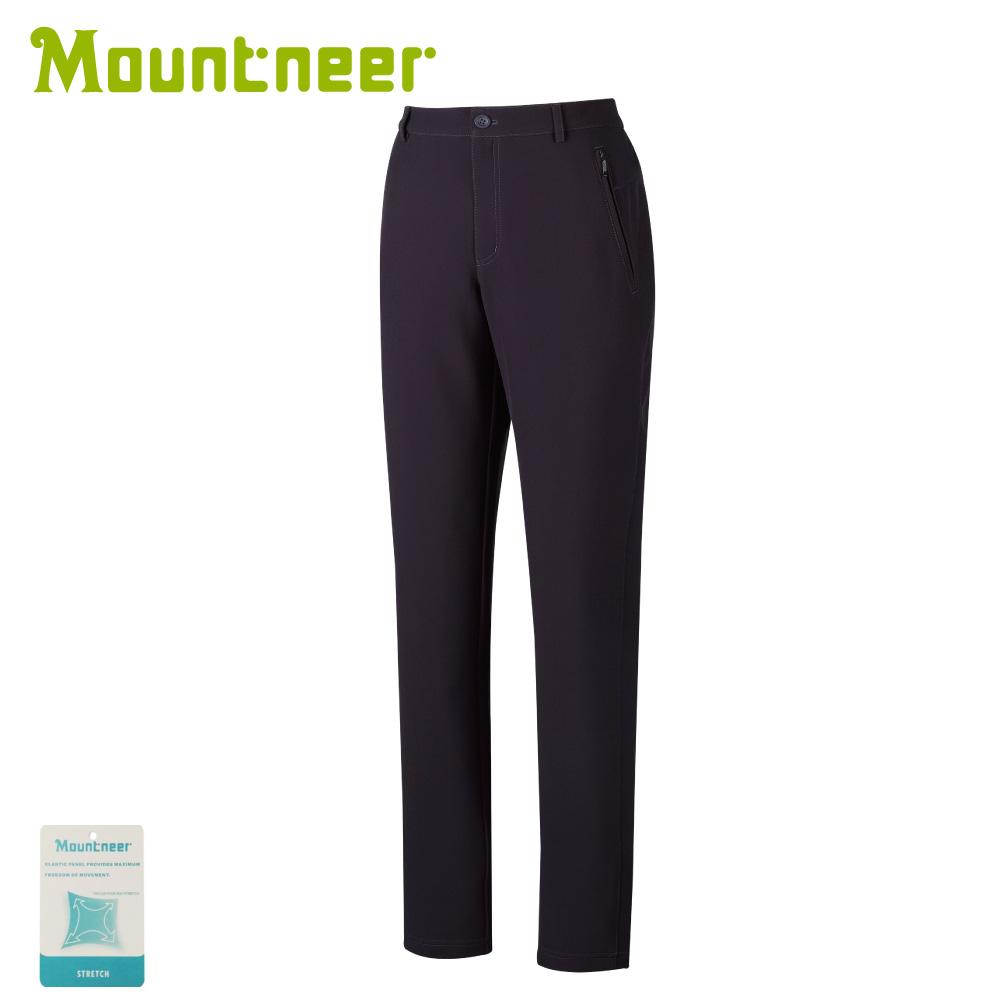 【Mountneer 山林 女 SOFT SHELL保暖極窄管長褲《暗紫》】32S18/休閒褲/防風褲