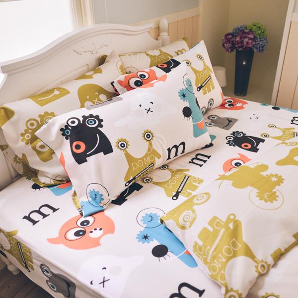 枕頭套一入- [怪怪妖怪米-兩款] 吸濕排汗 超細纖 ; 45x75cm ; 翔仔居家台灣製