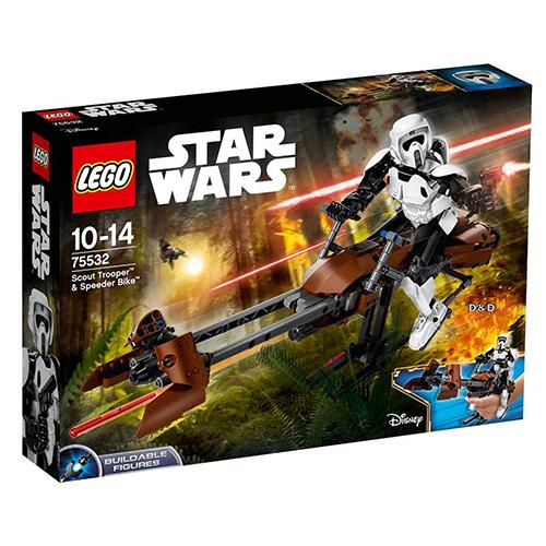 樂高積木LEGO LT75532 STAR WARS星際大戰系列帝國偵查兵與反重力機車JOYBUS玩具百貨