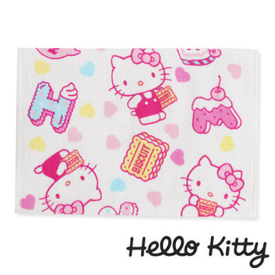 Sanrio三麗鷗Hello Kitty系列-凱蒂貓點心時刻紗蘿童巾
