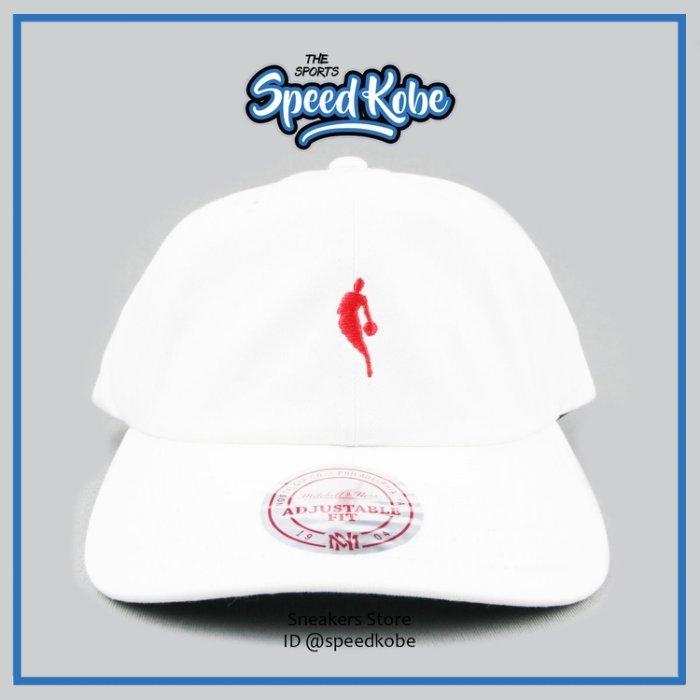 M&N老帽NBA小LOGO白紅可調HA18BEF SP