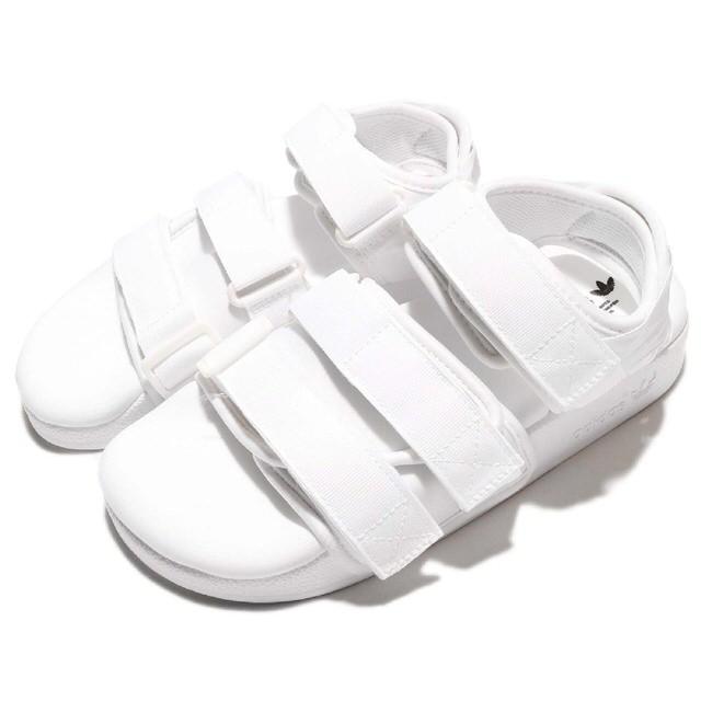 現貨adidas ADILETTE SANDAL W全白魔鬼氈羅馬鞋涼鞋女鞋GT Company BB5096