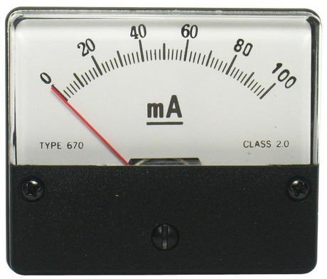 DC100mA 670指針式工業用直流電流錶頭