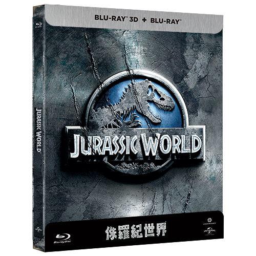侏羅紀世界鐵盒版2D附3D藍光BD正式版音樂影片購