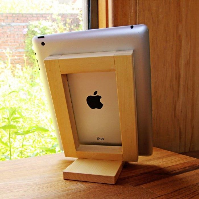 【木樂館】原木iPad架│阿拉斯加扁柏黃檜│平板支架手機架書架文具辦公事務用品雜貨