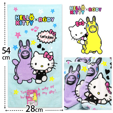 Kitty Rody 純棉童巾 凱蒂貓與星星Rody款 三麗鷗 Sanrio