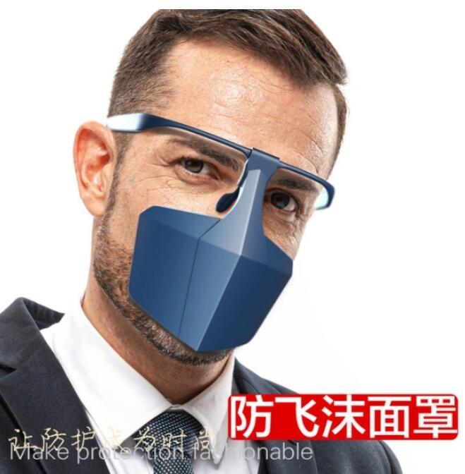 臺灣現貨遮臉面罩防護隔離面罩 防濺防飛沫口罩 防病毒灰塵隔離面罩igo