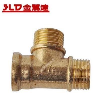 4分內外絲三通分水接頭水管三通接頭銅三通