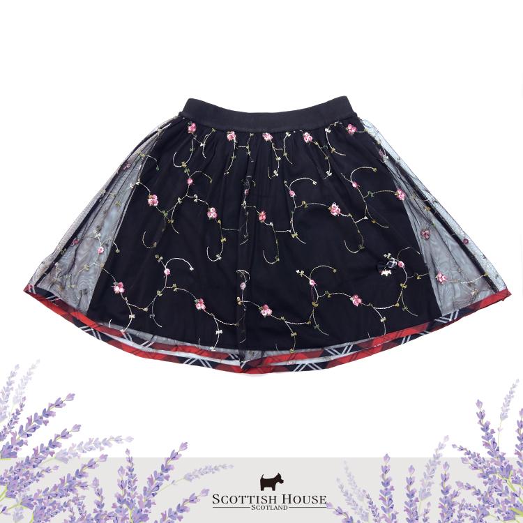 玫瑰花園繡花短紗裙 Scottish House【AI2154】