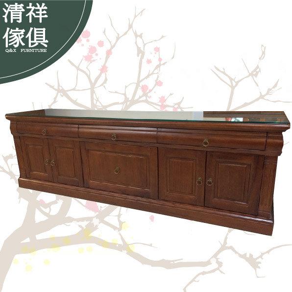 【新竹清祥傢俱】A01 非洲柚木四門餐櫃 收納櫃 置物櫃