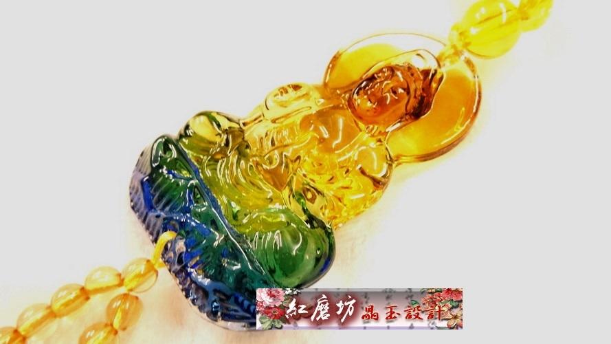 【Ruby工作坊】 NO.75Y一件單隻五彩琉璃貔貅吊飾(加持祈福)