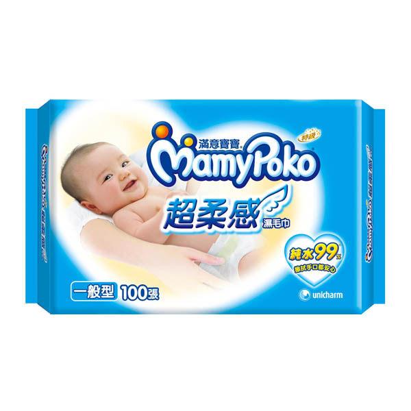滿意寶寶純水濕毛巾一般型100張補充包屈臣氏