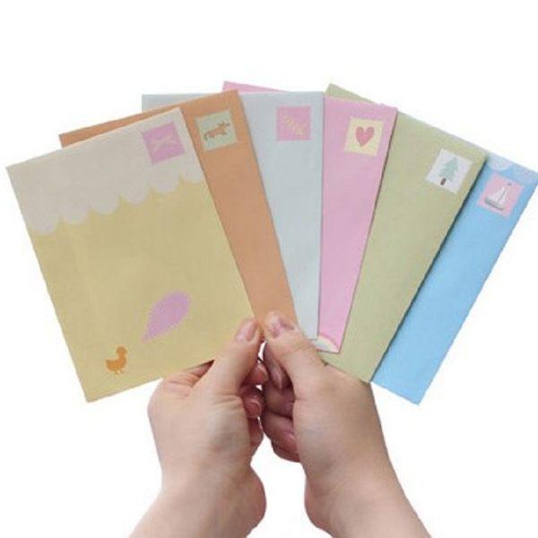 韓國信紙 信封(6款)-愛心【魔小物】《現貨》